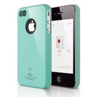 ELAGO EL-S4SM-CBL-BA S4 Slim Fit Case for AT&T, Sprint, Verizon iPhone 4/4S - 1 Pack - Retail Packaging - Coral Blue: Cell Phones & Accessories