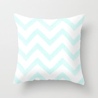 Chevron Cloud Throw Pillow by MN Art