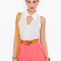 Fresh Air Blouse in  Features Blinded By The Light at Nasty Gal