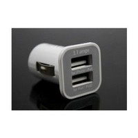Amazon.com: 3.1A Dual USB Car Charger Adapter for iPad iPad2 iPhone iPod (White): Cell Phones &amp; Accessories