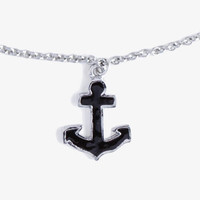 Lacquered Anchor Necklace | FOREVER 21 - 1036096135