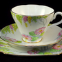 Art Deco Hand Painted Floral China Trio c.1912+ to buy