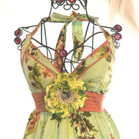 Spring French country Garden Party Dress by TrueRebelClothing