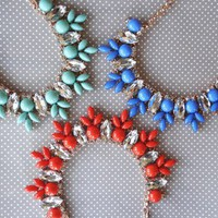 JCrew Inspired Rhinestone Statement Necklace  3 colors from JuicyDealz