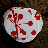 "Coasters ""Red Berries"""