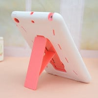 Fashion Kickstand Hard and Soft Double Layer For Ipad