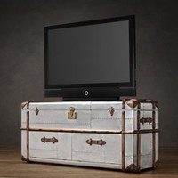 Richards' Metal Media Trunk | | Restoration Hardware