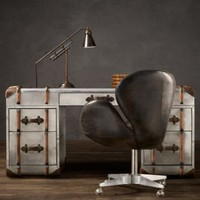 Richards' Metal Trunk Desk | Trunks | Restoration Hardware