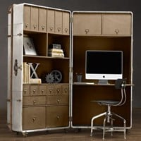 Richards' Metal Secretary Trunk | | Restoration Hardware