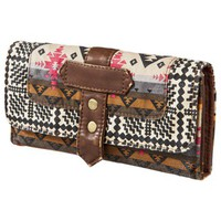 MOSSIMO SUPPLY CO. Brown Aztec Washed Print Wallet
