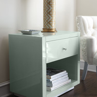 Ocean Glass Side Table