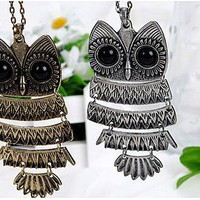 Chain necklace vintage OWL sweater chain 129