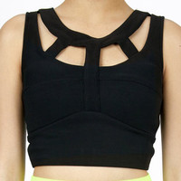 Cut Out Crop Top $22