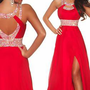 Red Long Prom Formal Pageant Dress Party Bridesmaid Dress Evening Gown Custom