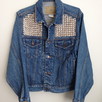 denim jean jacket studded