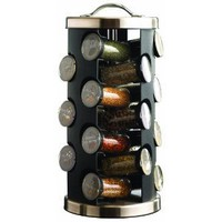 Kamenstein 4121 21-Jar Filled Revolving Spice Rack