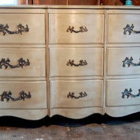 Lovely Tonal Coco French 9Drawer Antique Long by PaintedPerfection