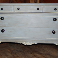Chic Gorgeous Vintage French Painted 3 Drawer by PaintedPerfection
