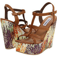 Steve Madden P-James Cognac Leather - 6pm.com
