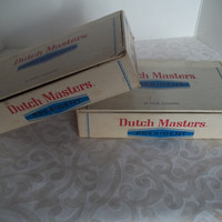2 Dutch Masters President Cigar Boxes 10 Count