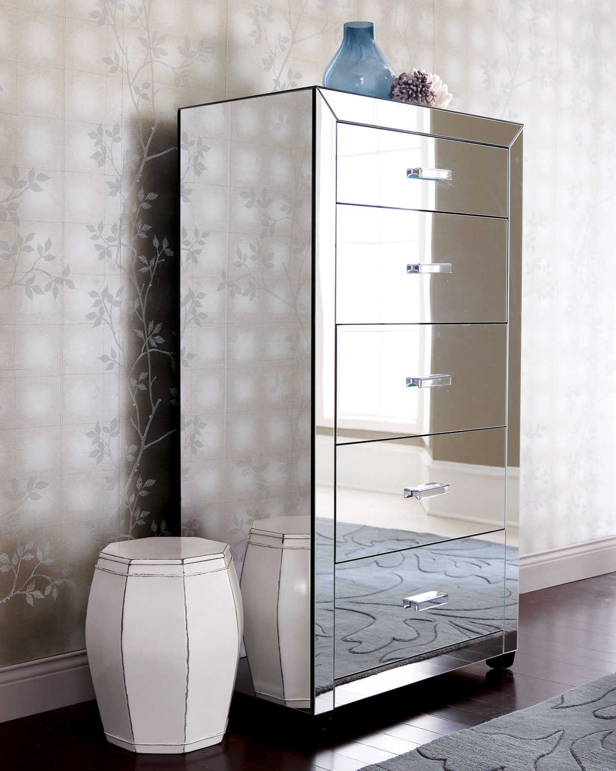 Clairmonte mirrored tall chest from on wanelo - Muebles de espejo ...