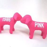 Amazon.com: ONE NEW Victoria Secret Pink Line Mini Dog: Toys & Games