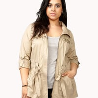 Pyramid Studded Trenchcoat | FOREVER21 PLUS - 2038296172