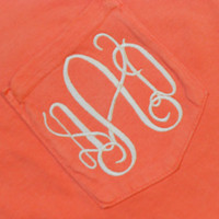 Monogram Short Sleeve Pocket Tee  Font Shown by MONOGRAMSINC