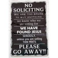 No Soliciting 8x12 Aluminum Sign: Everything Else