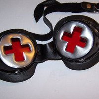 Darkwear Swiss Army Cross with Red Clear Goggle Lenses