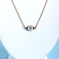 Sight For Sore Eyes Gold Eye Necklace