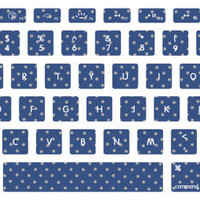 Small Polka Dot Pattern Macbook Keyboard Stickers