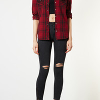 Mix Red Check Shirt - Tops - Clothing - Topshop USA