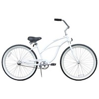 "Firmstrong Urban Lady Single Speed - Women's 26"" Beach Cruiser Bike (White)"