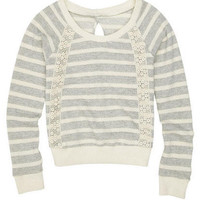 Stripe Crochet Sweatshirt
