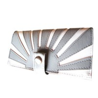 Rising Sun Gray   Pocketbook Slash Checkbook Holder by QuietDoing