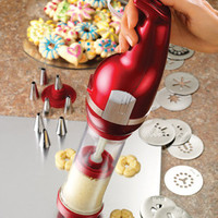 Nostalgia Electrics CDP200RED Retro Series Cookie Dough Press