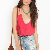 Button Up Tank - Berry in  Clothes Tops at Nasty Gal