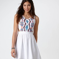 AE Embroidered Cutout Dress | Aerie for American Eagle