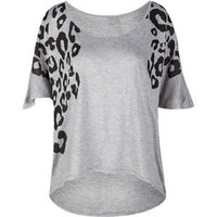 FULL TILT Animal Hi Lo Womens Top