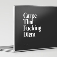 Carpe Laptop & iPad Skin by Wordboner | Society6
