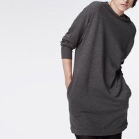 FUNNEL NECK FLEECE MINI-DRESS - WOMEN - James Perse - WXQ6527