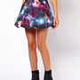 ASOS Skater Skirt in Galaxy Print