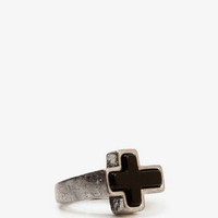 Burnished Cross Ring | FOREVER 21 - 1023856909