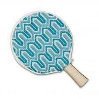 Jonathan Adler orange ping pong cover and paddle