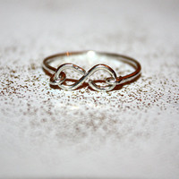 amare - sterling silver infinity ring by lilla stjarna - gifts under 50 - infinity symbol ring - stack stacking stackable layering ring
