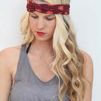 Turban Stretch Headband in Tribal/Floral