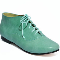 Ankle Shoe / Aqua by MuchaMuchachaDesign on Etsy