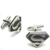 Funny Superman Cufflinks : Superhero Cufflinks W/Gift Box