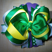 Fighting Irish Colored - Triple layer bow